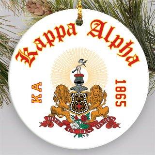 Kappa Alpha Round Christmas Shield Ornament