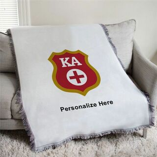 Kappa Alpha Shield Afghan Blanket Throw