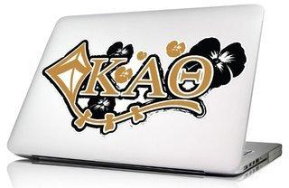 Kappa Alpha Theta 10 x 8 Laptop Skin/Wall Decal