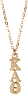Kappa Alpha Theta 22 k Yellow Gold Plated Lavaliere Necklace - ON SALE!