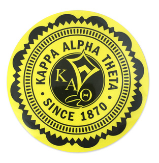 "Kappa Alpha Theta 5"" Sorority Seal Bumper Sticker"