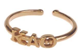 Kappa Alpha Theta Adjustable Letter Ring