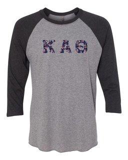 Kappa Alpha Theta Unisex Tri-Blend Three-Quarter Sleeve Baseball Raglan Tee
