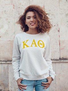 Kappa Alpha Theta Arched Greek Lettered Crewneck Sweatshirt