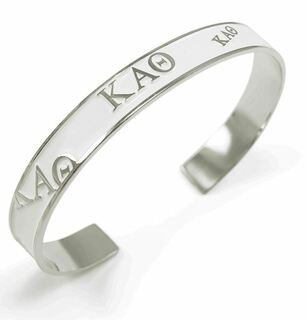 Kappa Alpha Theta Bangle (White)