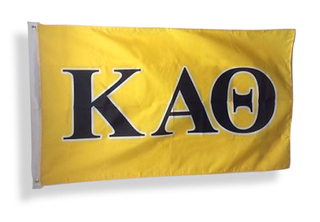 Kappa Alpha Theta Big Greek Letter Flag