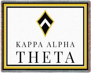 Kappa Alpha Theta Blanket Throw
