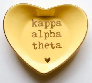 Kappa Alpha Theta Ceramic Ring Dish