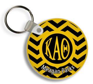 Kappa Alpha Theta Chevron Keychains