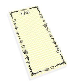 Kappa Alpha Theta Chevron Long Notepad