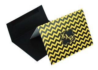 Kappa Alpha Theta Chevron Note Cards w/ Envelopes (10)