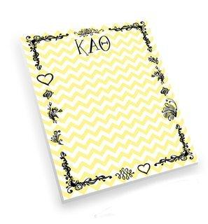 Kappa Alpha Theta Chevron Notepad