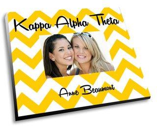 Kappa Alpha Theta Chevron Picture Frame