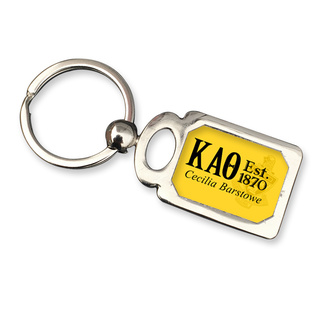 Kappa Alpha Theta Chrome Crest Key Chain