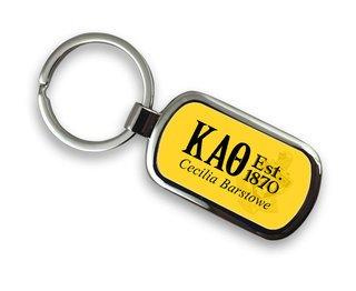 Kappa Alpha Theta Chrome Crest - Shield Key Chain