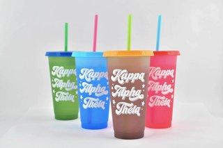 Kappa Alpha Theta Color Changing Cups (Set of 4)