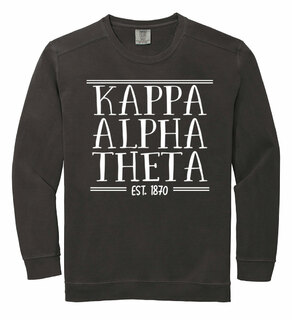 Kappa Alpha Theta Comfort Colors Custom Crewneck Sweatshirt