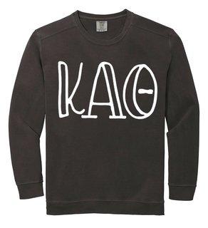 Kappa Alpha Theta Comfort Colors Greek Crewneck Sweatshirt