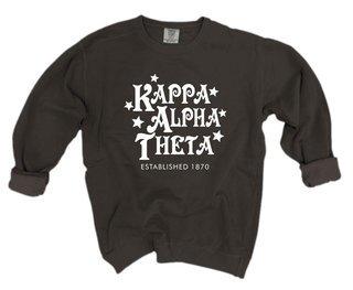 Kappa Alpha Theta Comfort Colors Old School Custom Crew