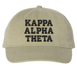 Kappa Alpha Theta Comfort Colors Pigment Dyed Baseball Cap
