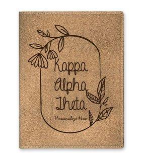 Kappa Alpha Theta Cork Portfolio with Notepad