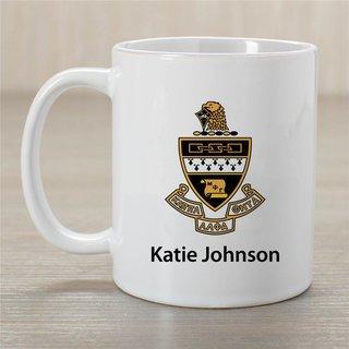 Kappa Alpha Theta Crest Coffee Mug - Personalized!