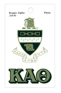 Kappa Alpha Theta Crest Decals