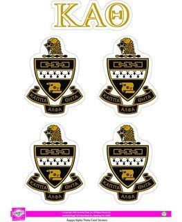 Kappa Alpha Theta Crest Sticker Sheet