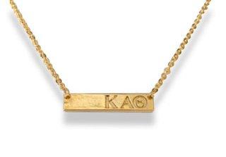 Kappa Alpha Theta Cross Bar Necklace