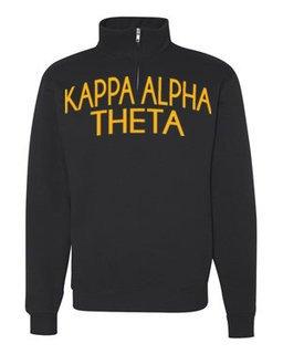 Kappa Alpha Theta Over Zipper Quarter Zipper Sweatshirt