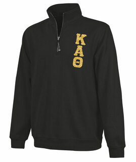 Kappa Alpha Theta Crosswind Quarter Zip Twill Lettered Sweatshirt