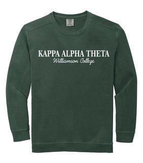 Kappa Alpha Theta Script Comfort Colors Greek Crewneck Sweatshirt