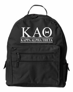 Kappa Alpha Theta Custom Text Backpack