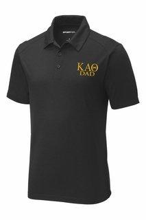 Kappa Alpha Theta Dad Posicharge Tri Blend Wicking Polo