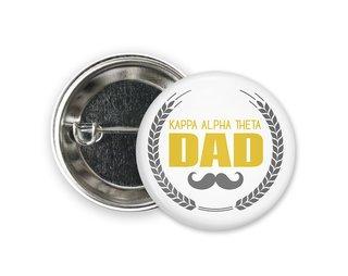 Kappa Alpha Theta Dadstache Button