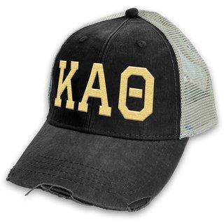 Kappa Alpha Theta Distressed Trucker Hat