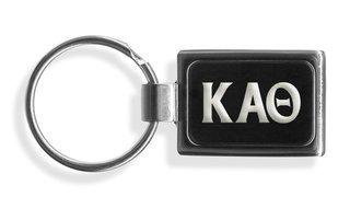 Kappa Alpha Theta Engraved Chrome Keychains