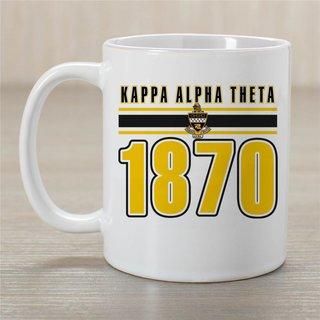 Kappa Alpha Theta Established Year Coffee Mug - Personalized!