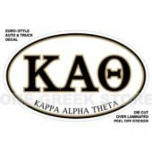 Kappa Alpha Theta Euro Style Sticker