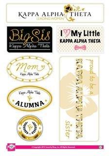 Kappa Alpha Theta Family Sticker Sheet