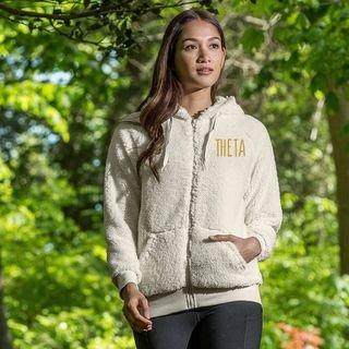 Kappa Alpha Theta Fiona Sherpa Full Zip