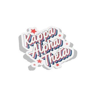 Kappa Alpha Theta Flashback Decal Sticker