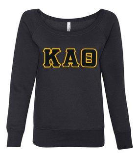 DISCOUNT-Kappa Alpha Theta Fleece Wideneck Sweatshirt