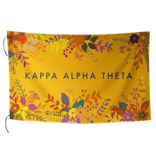 Kappa Alpha Theta Floral Flag