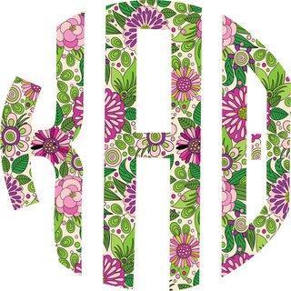"""Kappa Alpha Theta Floral Greek Monogram Sticker - 3"""" Tall"""
