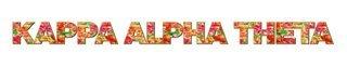 "Kappa Alpha Theta Floral Long Window Sticker - 15"" long"