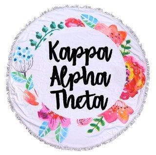 Kappa Alpha Theta Fringe Towel Blanket