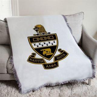 Kappa Alpha Theta Full Color Crest Afghan Blanket Throw