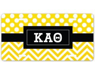 Kappa Alpha Theta Geometric License Plate