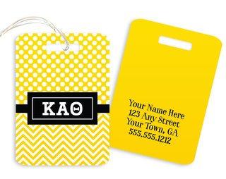 Kappa Alpha Theta Geometric Luggage Tag